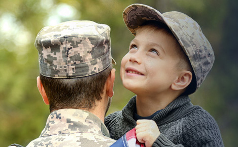 Soldier and his son