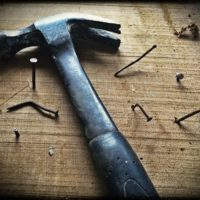 hammer and bent nails